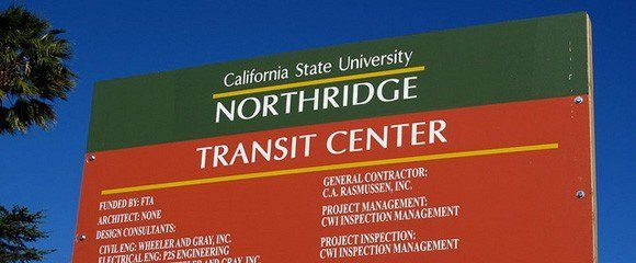 CSUN-Transit-Center-Sign